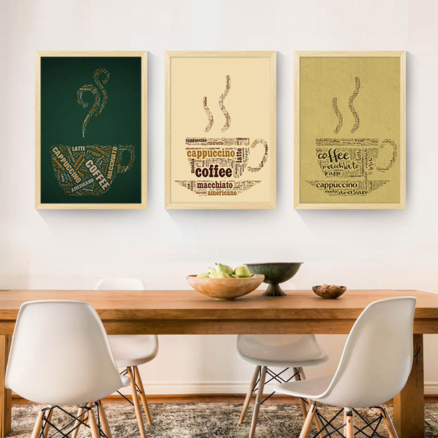 Hot Cafe Nordic Decoration Canvas Painting Cuadros Posters And ...