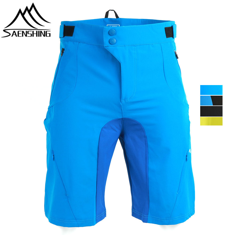 SAENSHING Brand Downhill Mtb Shorts Men Breathable Cycling Shorts Summer Bicycle Mountain Bike Shorts Male Short Vtt Size S-XXL