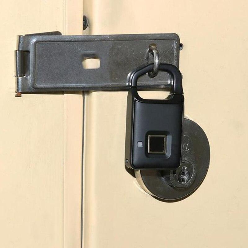 P4 USB Rechargeable Smart Keyless Fingerprint Lock Anti-Theft Security Padlock Door Luggage Backpack Bag Fingerprint Lock