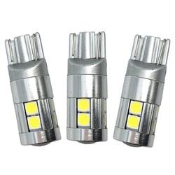 10x T10 3030 9 SMD 9 LED 12 v 24 v auto wedge ampoule de voiture led de plaque d'immatriculation lecture marqueur phare lampe lumière w5w 194 501