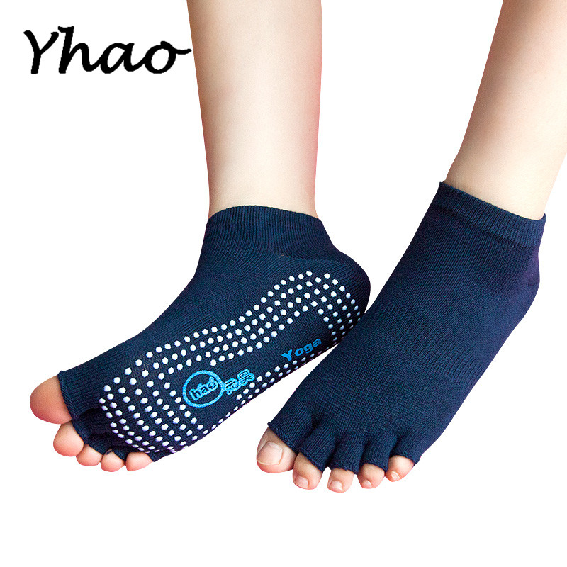 Yhao Yoga Toeless Socks Non Slip Ankle Grip Socks For Women Professional Pilates Fitness Gym Sports Socks in Yoga Socks from Sports Entertainment