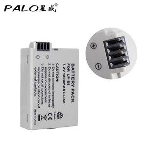 Image 2 - PALO 2Pcs 1800mah LP E8 LPE8 LP E8 Batteria Batterie AKKU + LCD Dual Caricabatteria per Canon EOS 550D 600D 650D 700D X4 X5 X6i X7i T2i