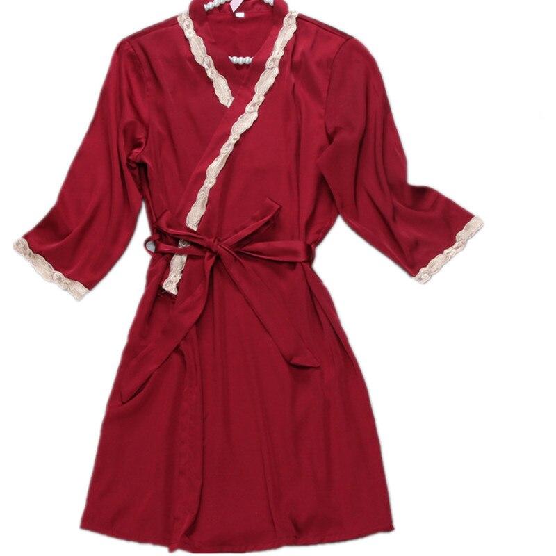 Sexy Women Robes Peignoir Bridesmaid Robes Badjas Silk Satin Robe Lingerie Mini Half Sleeve Bath Robe Christmas Gifts Hot Sale