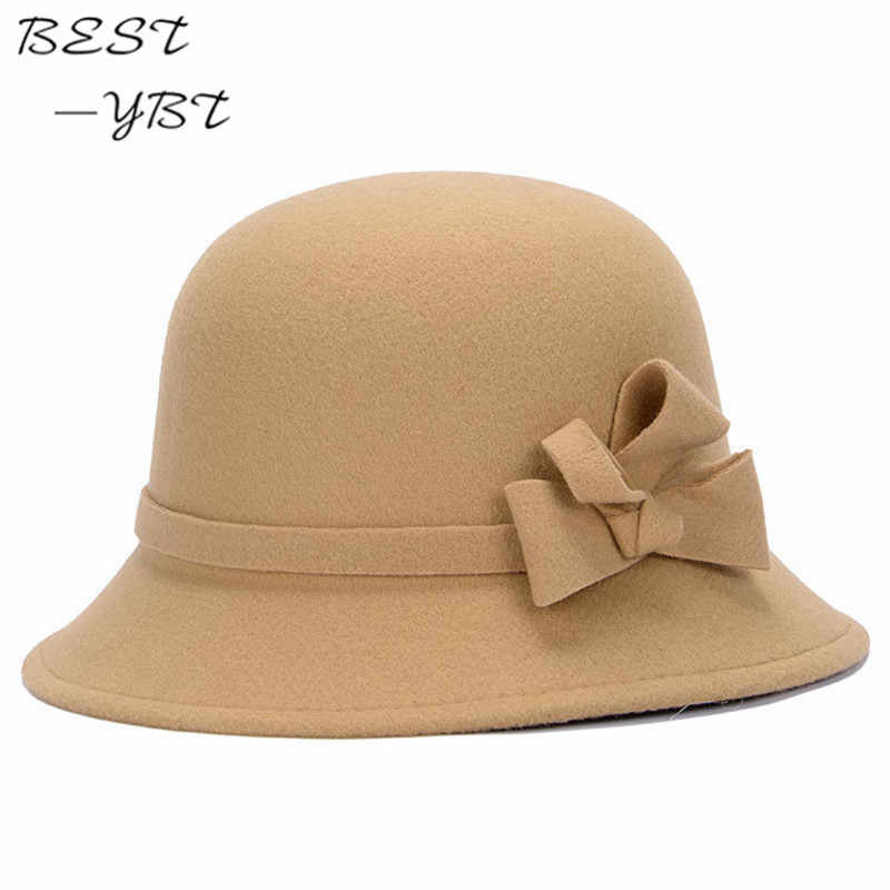 03f8d7e47852d Vogue Ladies Women Girls Flowers Hats Trendy Derby Wool Bowler Fall Winter  Warm Lovers Fedoras Princess