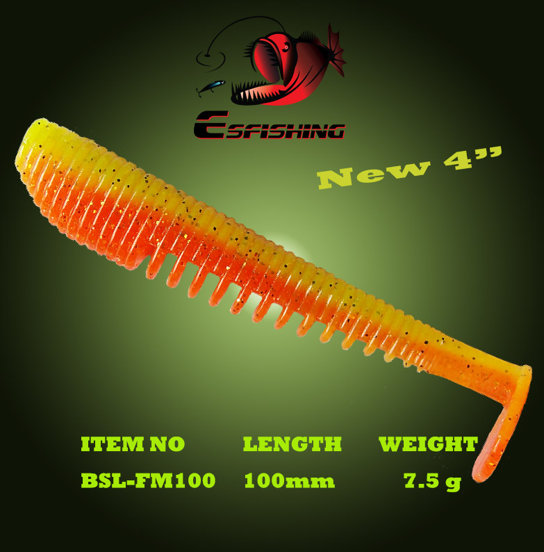 ES Рыбалка FLK Минноу 6 шт. 100 мм/7.5 г Рыбалка приманки мягкие приманки leurre souple Шад Карп Рыбалка ИСОГД искусственные