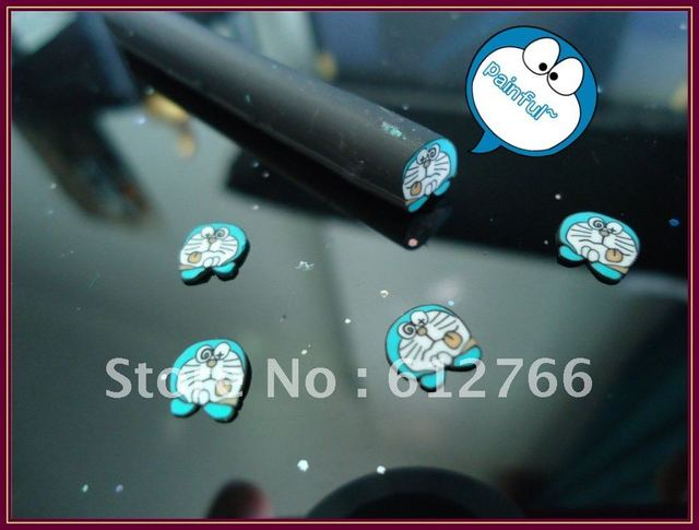 Nail Art Fime Canes Poly Clay Fruit Canes Doraemon In Rhinestones