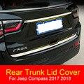 Для Jeep Compass 2017 2018 Задняя Крышка багажника из нержавеющей стали украшение задние ворота отделка полосы 2 шт. AITWATT