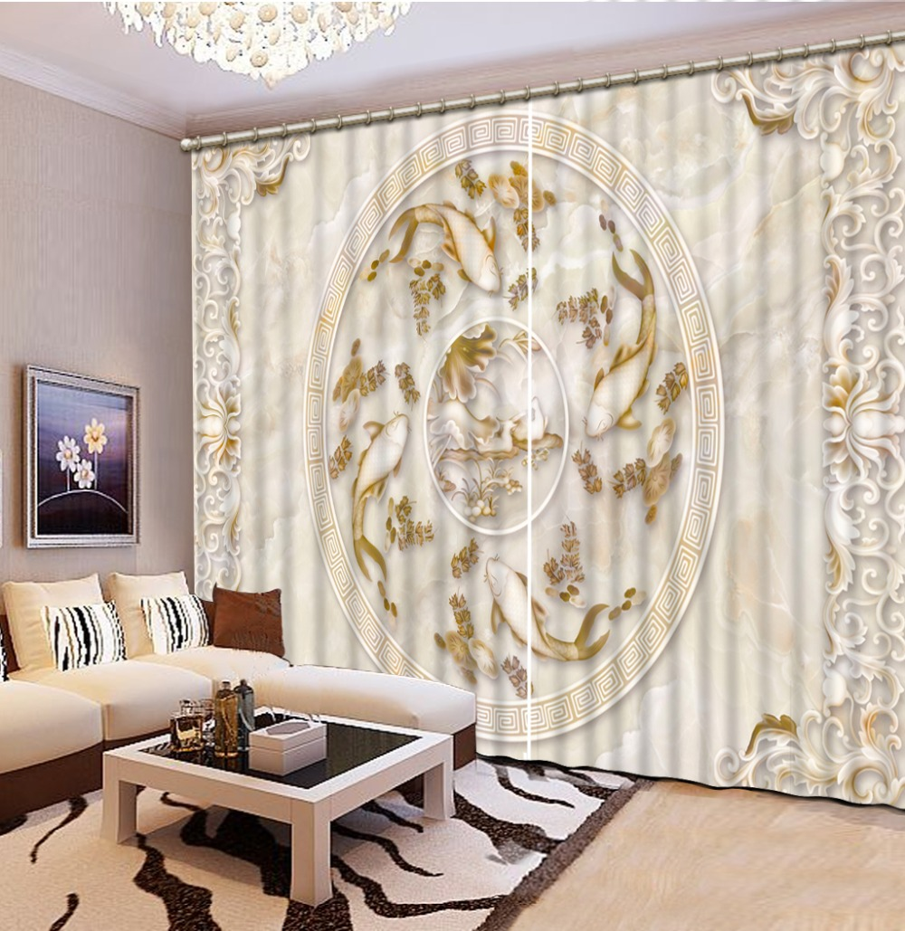luxury european curtains customize for Living room Bedroom blackout 3D curtainsluxury european curtains customize for Living room Bedroom blackout 3D curtains