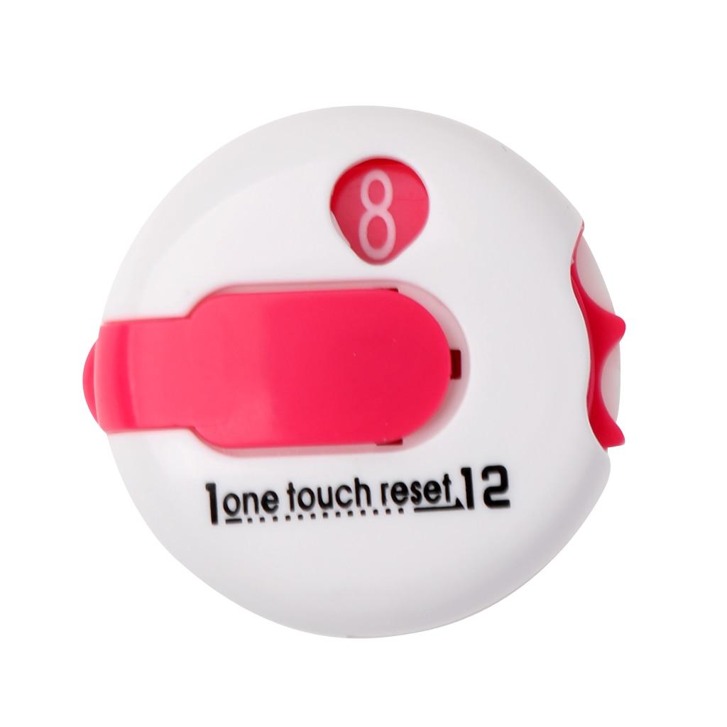 3 Pieces Plastic Pro Mini Golf Score Counter - One Touch Reset Counter 3cm