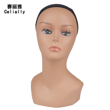 New Arrival Female Realistic Wigs Display Mannequin Head Model Head Female Mannequins For Wig Jewelry And Hat Display