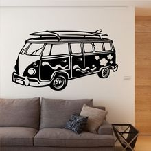 Removable Wall Sticker Camper Decal Travelling Bus Art Mural Home Living Room Wallpaper Vinyl Car Decor AY832