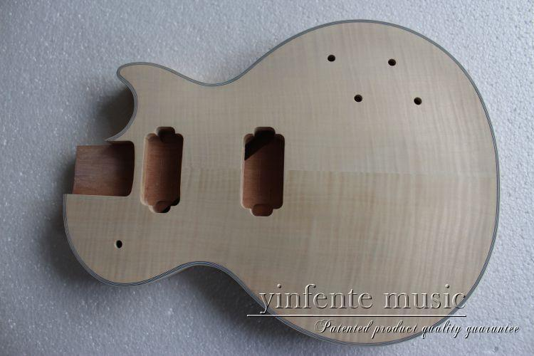 ФОТО New High Quality Unfinished electric    guitar Body Solid wood Body &  fingerboard new model 1pcs #2