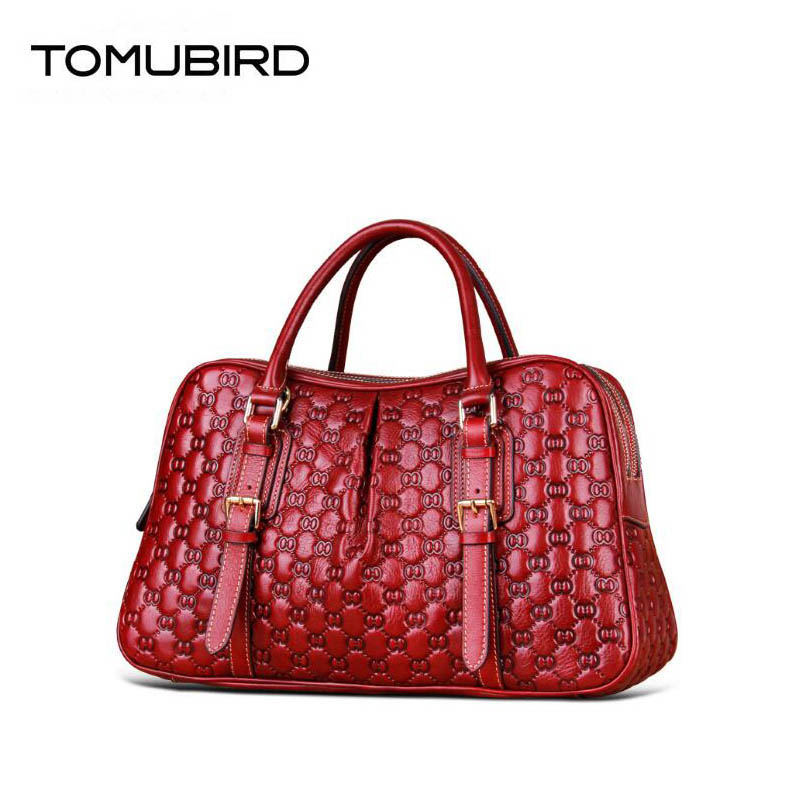 TOMUBIRD 2019 new Superior cowhide luxury fashion Embossed  women handbags big bags designer women genuine leather handbags TOMUBIRD 2019 new Superior cowhide luxury fashion Embossed  women handbags big bags designer women genuine leather handbags