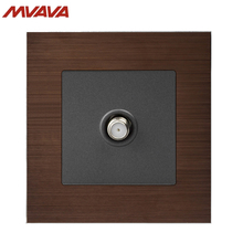 MVAVA Satellite TV Socket Smart Cable Multifunctional Television Outlet Alumimum Brushed Brown Wall Receptacle Free Shipping