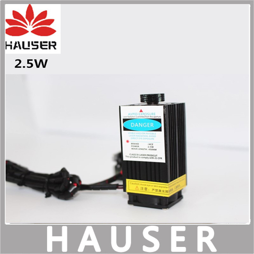 Free shipping 2.5w laser High-power 450nm blue laser head module co2 laser engraving ttl red 2500mw laser head diy cnc router laser head dmr eh55
