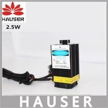 Freies verschiffen DIY 2500 mw lasermodul, DIY laserkopf 2,5 watt, DIY 2,5 Watt laser, 450nm blaues licht laser, senden gläser als geschenk