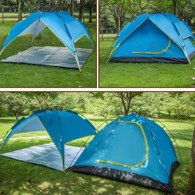 Portable Automatic Double Layer Outdoor C&ing Tent Quick Opening Folding Hiking Picnic Beach Fishing Shelter Tent & Portable Automatic Double Layer Outdoor Camping Tent Quick Opening ...