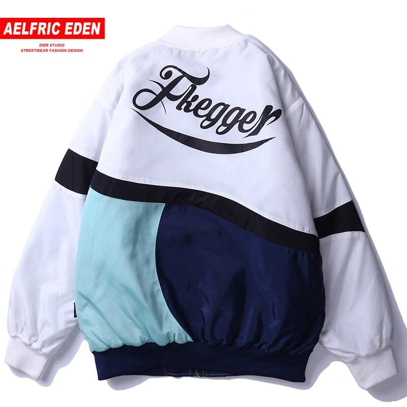 Aelfric Eden Brief Drucken Mode Jacken Mäntel Männer 2019 Frühling Hip Hop Outwear Voll Zipper Skateboard Streetwear Windjacke Herrenbekleidung & Zubehör Jacken & Mäntel