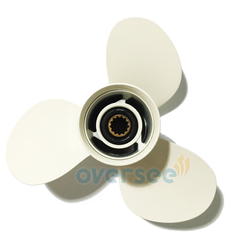 OVERSEE Aluminum Propeller 11-3/8x12-F Replaces For Yamaha Outboard Motor 0HP 50HP 663-45952-02-EL oversee propeller 6e5 45945 01 el 00 size 13 1 4x17 k for yamaha outboard motor motor 75hp 85hp 90hp 115hp 13 1 4x17 k page 8