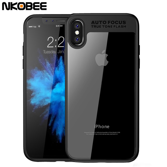 custodia silicone trasparente iphone x