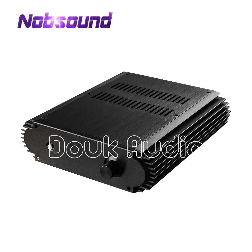 Nobsound AceCool Fashion Black Aluminum Case Power Amplifier Chassis HiFi Enclosure DIY nobsound hi end audio noise power filter ac line conditioner power purifier universal sockets full aluminum chassis