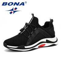 BONA Men Casual Shoes 2019 Summer Flats Breathable Mesh Shoes For Men Light Fashion Lover Shoes Men Sneakers Zapatos Hombre