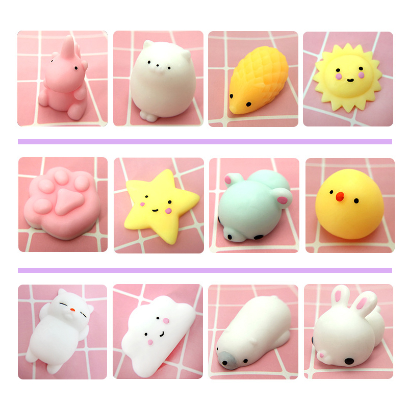 37Kind of style Soft cute animals decompress colorful stretch squishy reduce stress make people happy and relaxed 5