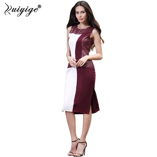 cbdd12ccd15 Ruiyige 2018 Bodycon Plus Size Sleeveless Sexy Party Office Women Ivanka  Trump Style Pencil Formal Vintage Tunic Dress Vestidos