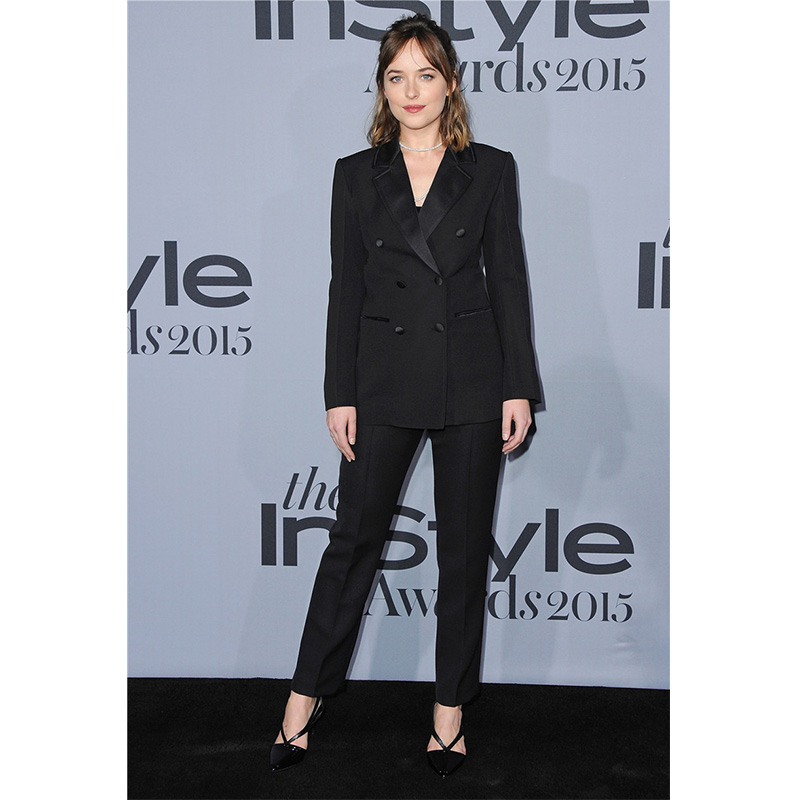 Custom made Jacket+Pants Black Womens Business Work Suits Female Office Uniform Slim Ladies Formal Trouser Suits Double Breasted