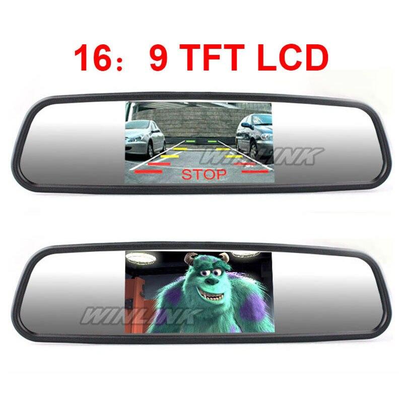 imágenes para 4.3 Pulgadas TFT Monitor Del Coche Del Rearview Mirror Auto Monitor de Pantalla LCD para el Coche Que Invierte La Ayuda