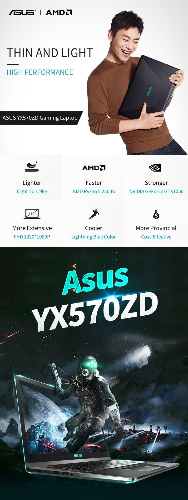 ASUS YX570ZD gaming laptop