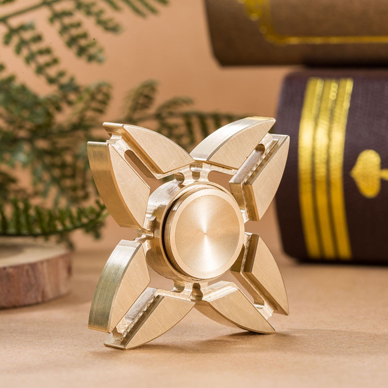 2017 New Finger Spinner Brass Professional Hand Spinner Brass Metal Fidget Spinner Metal Anti Stress