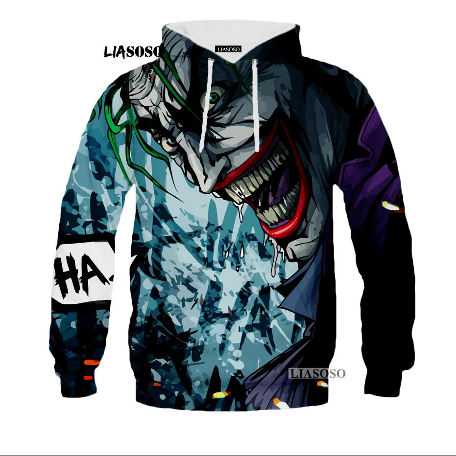 Hoodies Sweatshirts Joker Suicide Squad Deadshot Personality clothes 3D Printed Horror Novelty Streetwear Unisex Long Sleeve