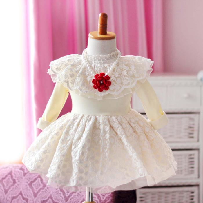 1967fd2ff064 Newborn baby frock designs Christmas party princess pillowcase lace ...