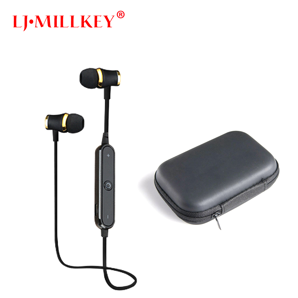 S6 Bluetooth Headset Athlete Wireless Earphone BT4.1 Sports Stereo Earbuds with HD Mic for  Smartphones LJ-MILLKEY SNH001 aisike bluetooth4 0 earphone wireless sports in ear headset running music stereo earbuds handsfree with mic smartphones