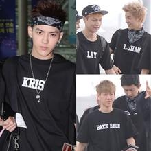 NEW k-pop EXO WOLF XOXO Album special T-shirt luhan se hun baekhyun kris tao lay do chen