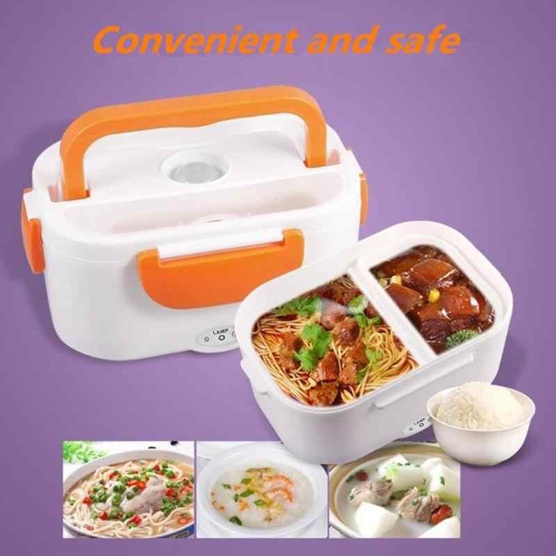110 V-220 V Lancheira Recipiente de Alimento Portátil 2019 Novo Aquecimento Eléctrico Lunch Box Food-Grade de Alimentos mais quente Para As Crianças Conjuntos de Louça