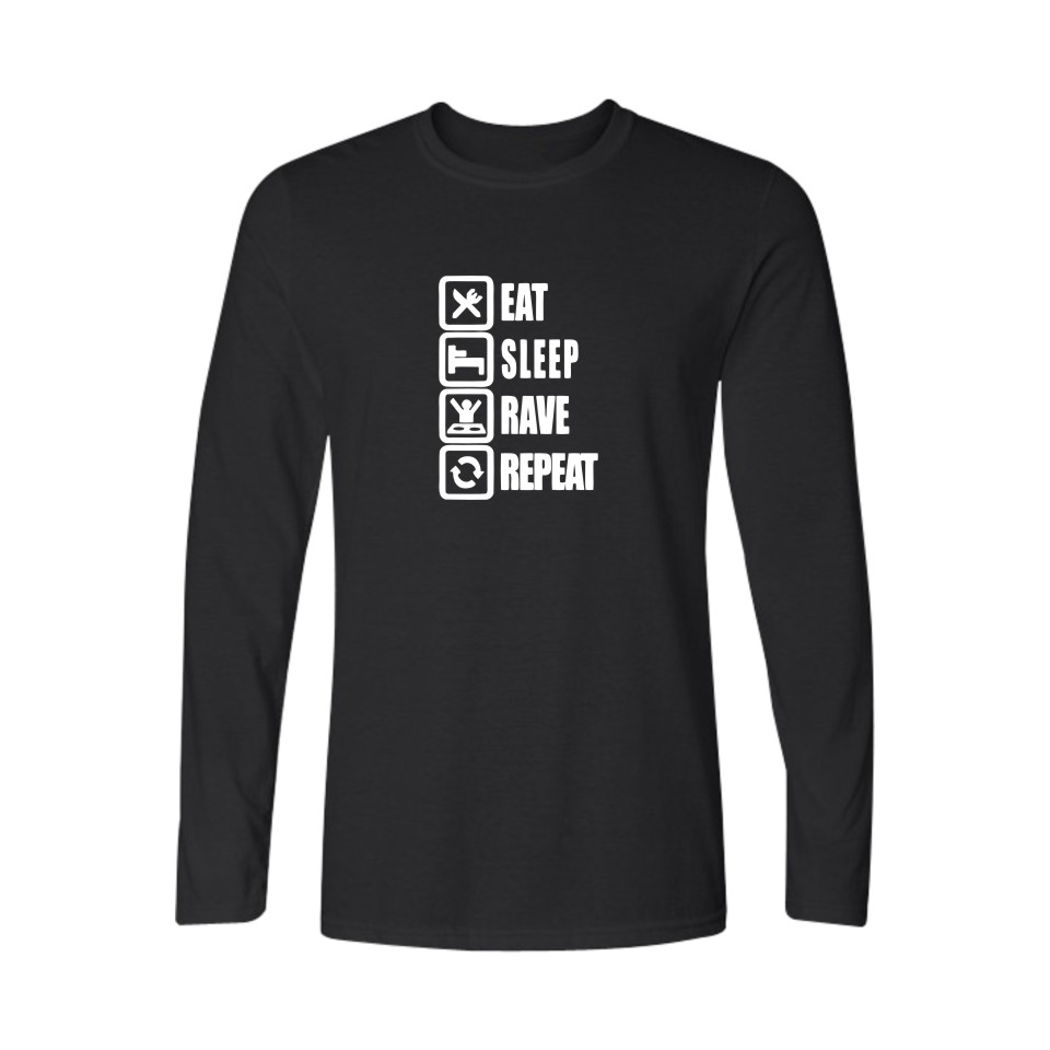 Hot eat sleep ame mens long sleeve tshirts hip hop Long cotton sleep shirts