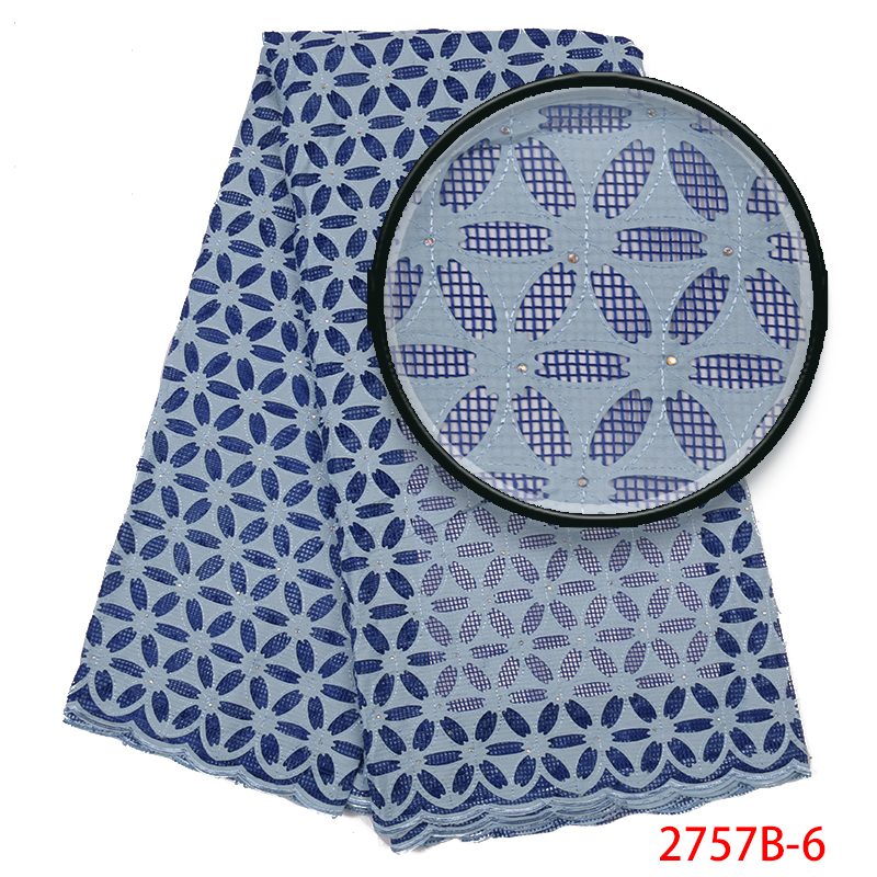 African cord lace fabrics Newest, High Quality Swiss Cord Lace,Nigerian Guipure Cotton Lace with Stones  for Women KS2757B-6