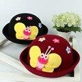 Tapa Sombrero de lana para niños niño Niña de Dibujos Animados de Animales Sombreros Cuenca Moda Caps For Kids Niños Sombrero