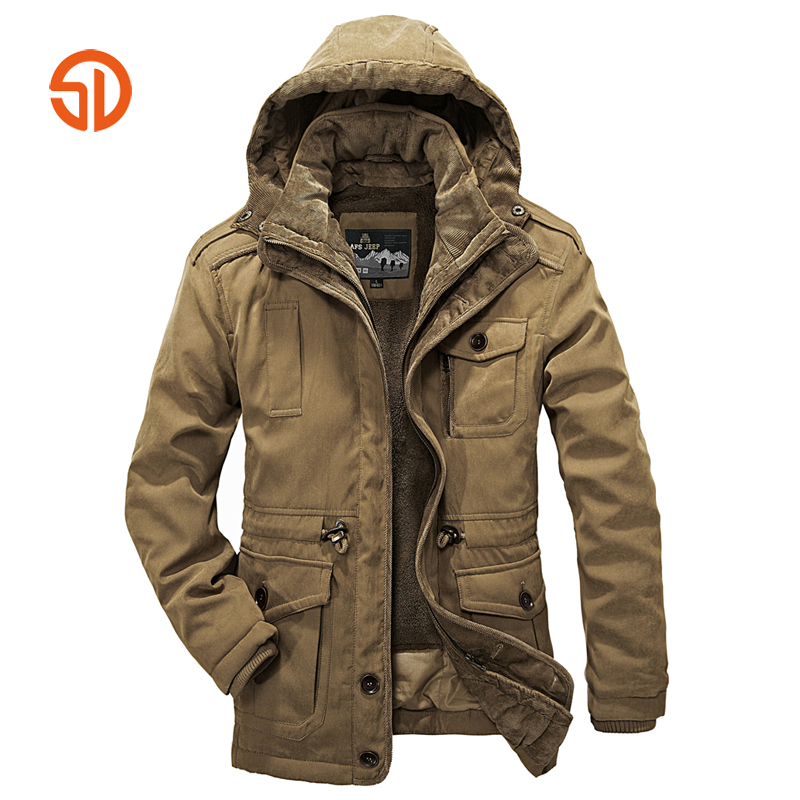 Brand Clothing Winter Jackets Mens Coats Military Lamb Wool Jacket 2 Piece Parka Jacket  ...