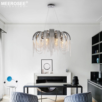 Modern Aluminun Chandelier Lighting Fixture French Chain Hanging Lamp G9 LED Lustres For Living Dining Room