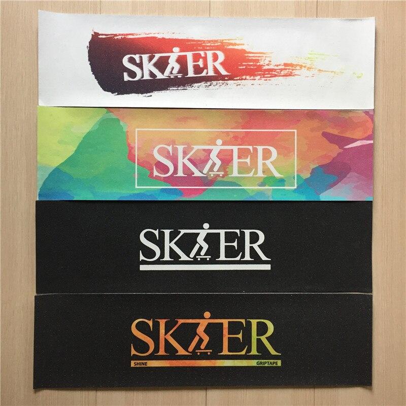 Prix pour Nouveau SK8ER Marque Planche À Roulettes Griptapes Carbure De Silicium Antidérapantes Skate Bandes avec Des Trous D'air Papier de Verre pour la Planche à Roulettes