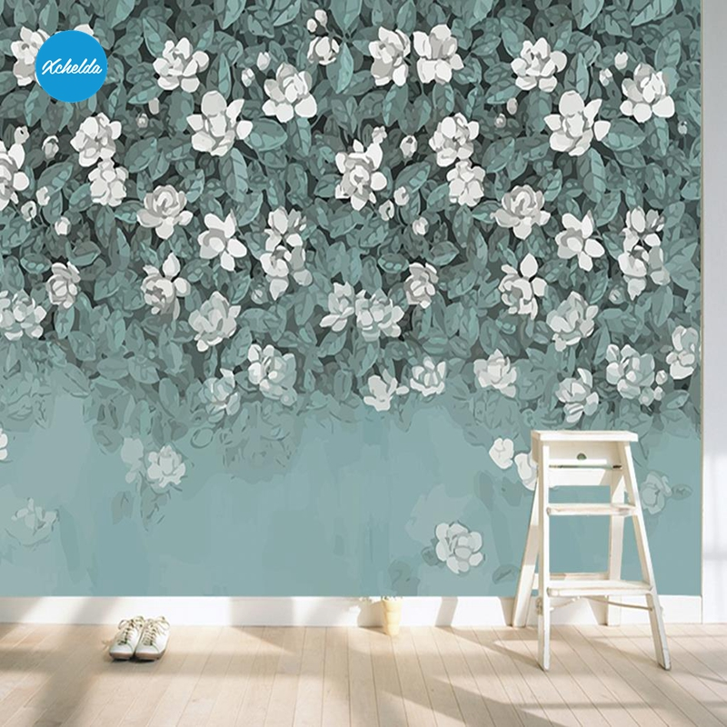 XCHELDA Custom 3D Wallpaper Design White Small Floral Photo Kitchen Bedroom Living Room Wall Murals Papel De Parede Para Quarto kalameng custom 3d wallpaper design street flower photo kitchen bedroom living room wall murals papel de parede para quarto