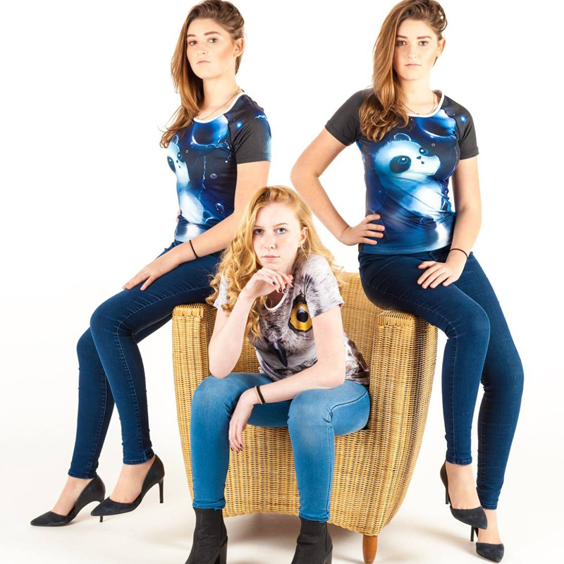 Nopersonality 3D Wolf Muster T-Shirt Damenmode T-Shirt Lustige Animal - Damenbekleidung - Foto 6