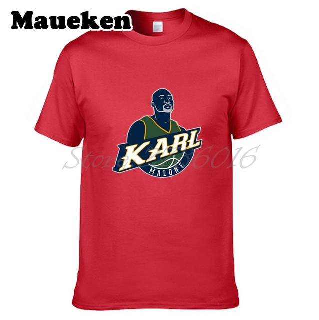 big sale 1346c 9a4f8 Men Utah Legendes The Mailman #32 Karl Malone T-shirt Clothes T Shirt Men's  for fans gift o-neck tee W0306036