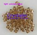 Free shipping wholesale 5301 Grade AAA  light colorado topaz color  3mm  4mm 6mm 8mm  glass Bicone Beads