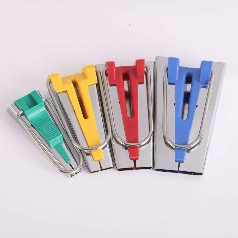 Sewing Accessories Bias Tape Maker Set Patchwork Tools 4 Size 6mm 12mm 18mm 25mm Bias Binding Tape Maker
