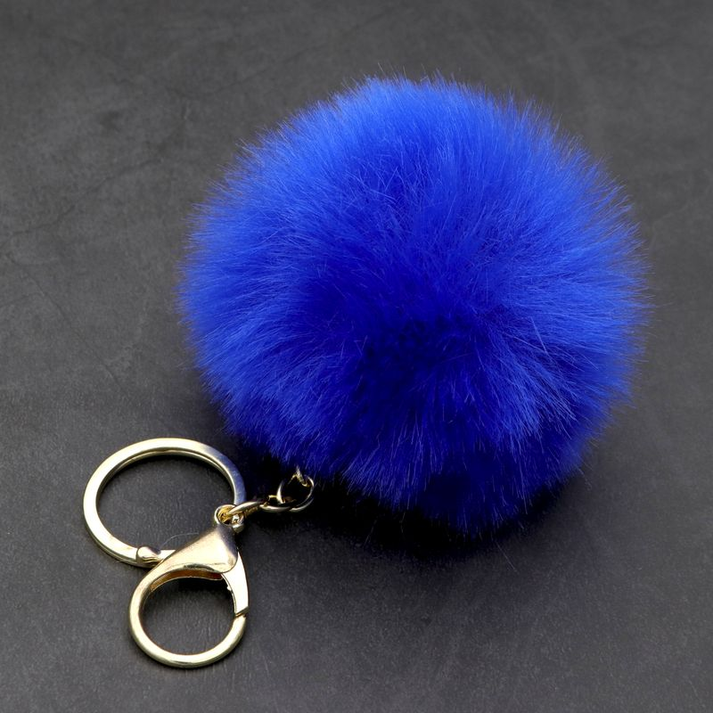 1 PC Cute Rabbit Handbag Lobster Buckle Bag Bunny Fur Pom Pom Fluffy Keychain Key Ring Car Jewelry Gift For Girl Women Wholesale in Key Chains from Jewelry Accessories