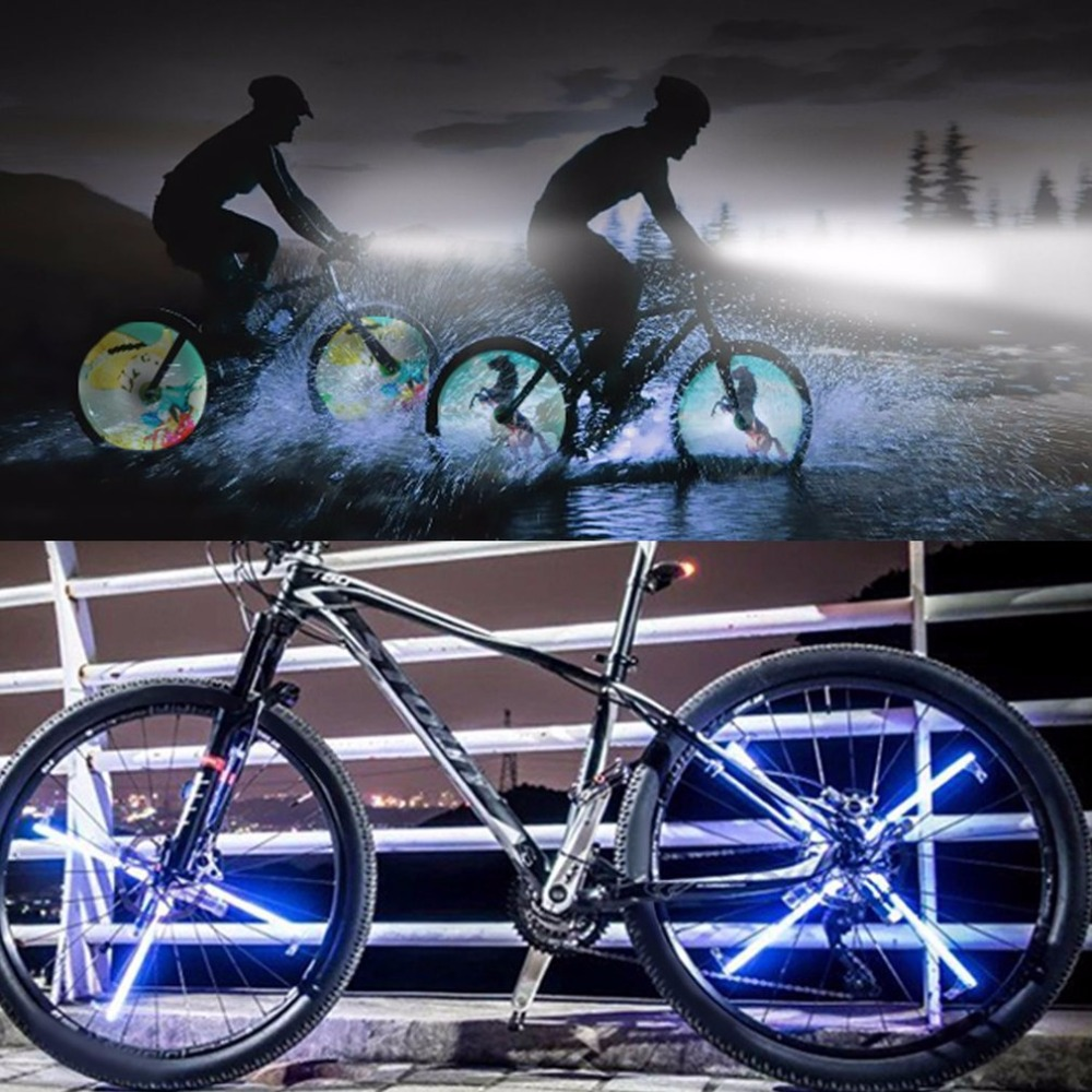 Hot Full-color LED GIF Photo Spokes Light Bicycle Wheel Light For Night Riding Double Side Display Bike DIY Patterns Rim Light 45 patterns computer programming bike bicycle light